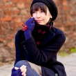 Fashionable young woman — Stockfoto