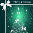 Christmas tree and ribbons - Imagen vectorial