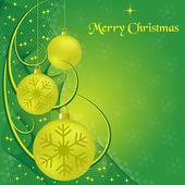 Vánoční koule a swooshes — Stock vektor
