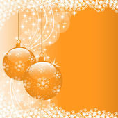 Xmas balls orange — Stock Vector