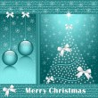 Royalty-Free Stock Vector Image: Xmas tree, balls and bows