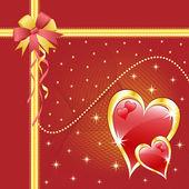 Valentinstag liebe herzen rot — Stockvektor