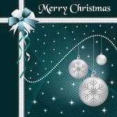 Noël boules argent et arc — Vecteur