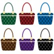 Ladies fashion handbags set - Stock Vector