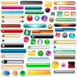 Web buttons set of 63 - Stock Vector