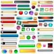 Royalty-Free Stock Vector Image: Web buttons set of 63
