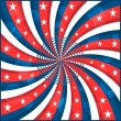 Wektor stockowy : American flag stars and swirly stripes