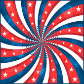 American flag stars and swirly stripes — Vector de stock