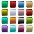 Stock Vector: Web buttons square set