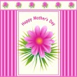 Mothers day flower design - Stock Vector
