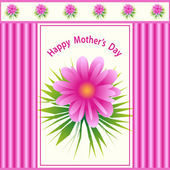 Mothers day flower design — Stock Vector