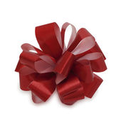 Single red bow. — Stock Photo