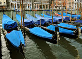 Gondolas on Grand Canal, Venice, Italy — Stockfoto