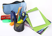 School tools and notepad — Stock Photo