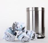 Pedal bin and rubbish — Stock Photo