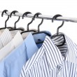 Stock Photo: Clothes on hanger