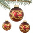 Christmas ornament balls — Stock Photo