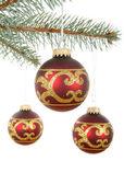 Christmas ornament balls — Stock Photo