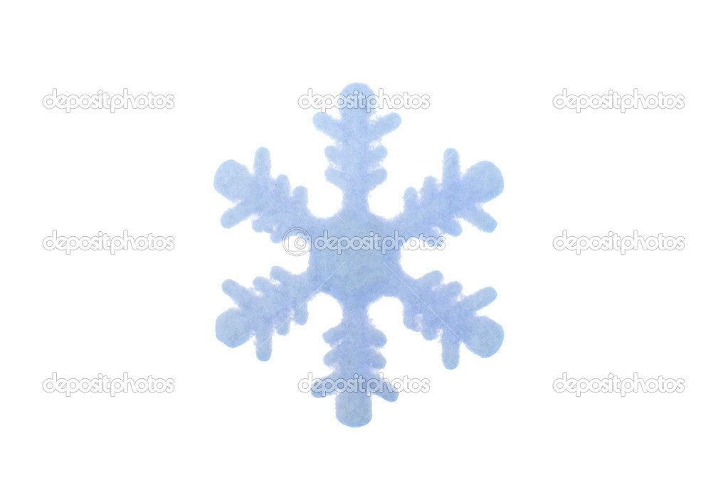 Blue snowflake on white background  — Stock Photo #4199337