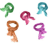 Set of cotton scarfs — Stock Photo