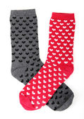 Socks with small hearts — Stockfoto