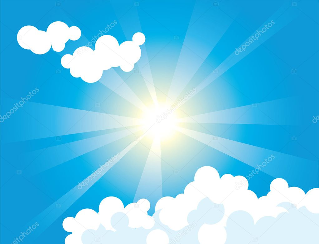 Look in sky at midday  — Stock Vector #4955320