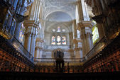 Malaga Cathedral Interior — Stock Photo