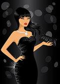 Elegant woman at party — Stock Vector
