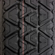 Tyre tread tracks close up — Stock Photo