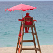 Lifeguard station on the beach — Stock Photo