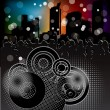 Royalty-Free Stock Imagen vectorial: Urban background with party