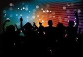 Club party with dancing — 图库矢量图片