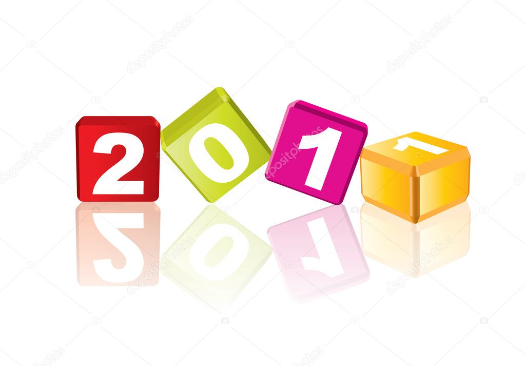 2011 new year in editable vector format — Stock Vector #4263516