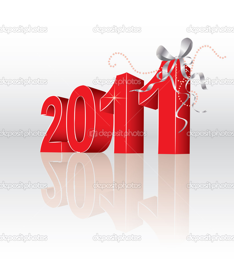 2011 new year in editable vector format  Stock Vector #4263521