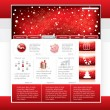 Royalty-Free Stock Imagen vectorial: Website template