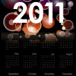 Cool 2011 calendar — Stock Vector
