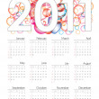 Colorful vector calendar for 2011 — Stock Vector