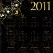 Royalty-Free Stock Vector Image: Vintage calendar for 2011