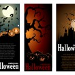 Halloween banner set — Vettoriale Stock