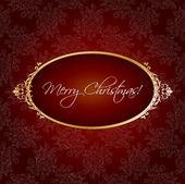 Christmas vintage greeting — Stock Vector