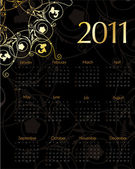 Vintage calendar for 2011 — Stockvector