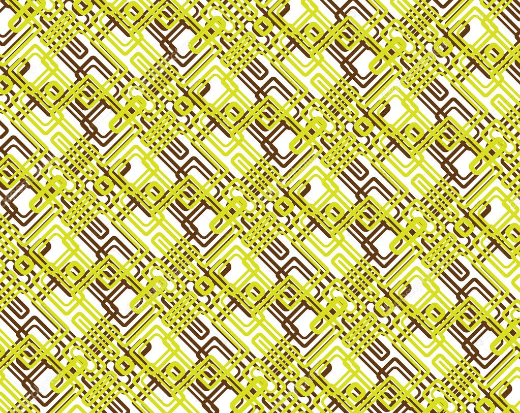 Seamless retro pattern in editable vector format — Stock Vector #4382541