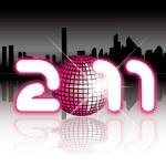 2011 urban New Year illustration — Stock Vector
