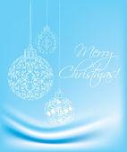 Modrý vánoční pozadí — Stock vektor
