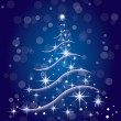 Christmas tree in vector format — Stockvector #4464445