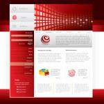 Website template — Stock Vector #4464468
