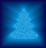 Modern abstract christmas tree — Stock Vector
