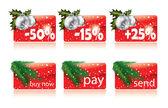рождественские кнопки для вашего веб-сайта — Cтоковый вектор