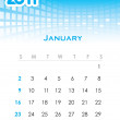 Stock Vector: Monthly vector calendar for 2011