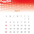 Monthly vector calendar for 2011 — Stock Vector #4611843